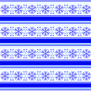 Snowflake Pattern On White