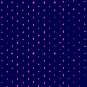 Pink Stars On Blue Pattern