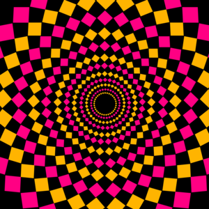 Pink Yellow Circular Pattern