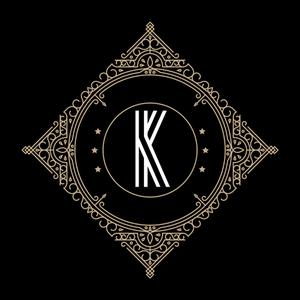 Retro Black Letter K