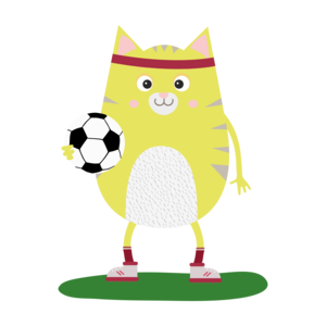 Soccer Cat With Ball