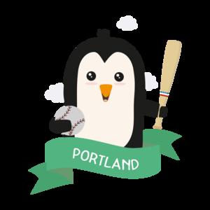 Baseball Penguin From Portland