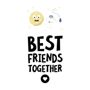 Cats And The Moon Best Friends Heart 2