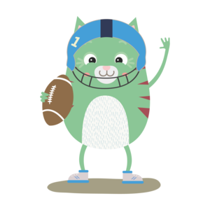 Football Cute Cat