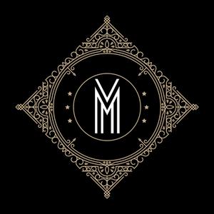 Retro Black Letter M