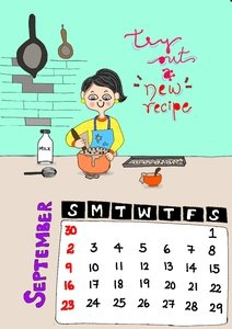 Calendar 2018 September