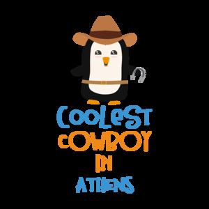 Coolest Cowboy Penguin In Athens