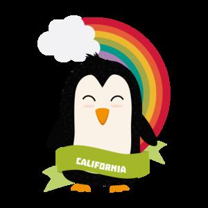 Penguin Rainbow From California