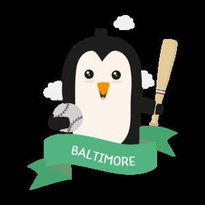 Baseball Penguin From Baltimore