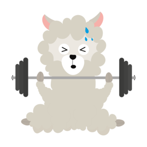 Fitness Alpaca With Weights