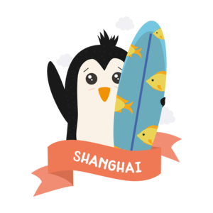 Penguin Surfer From Shanghai