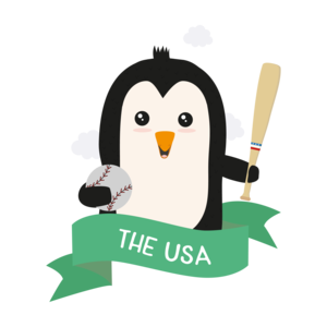 Baseball Penguin From The Usa