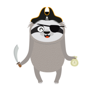 Pirate Sloth With Captians Hat