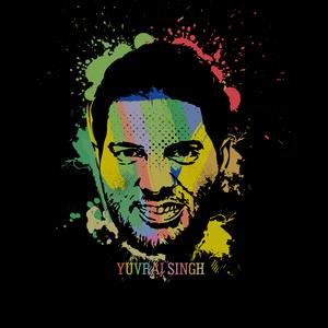 Yuvraj Singh Painting On Black