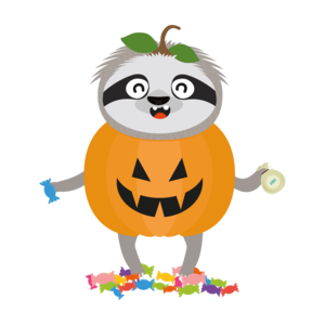 Pumpkin Sloth Halloween Costume