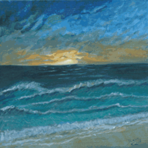 Sunset By The Sea Painting