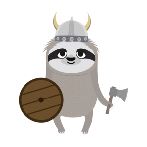 Viking Sloth With Helmet 2