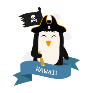 Penguin Pirate Captain From Hawaii