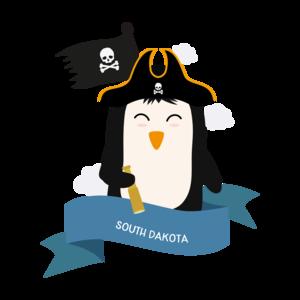 Penguin Pirate Captain From South Dakota