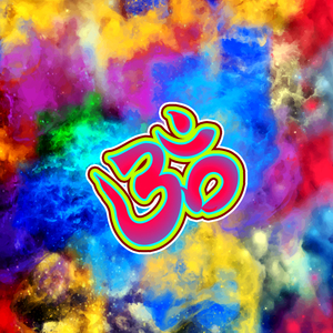 Om Be Spiritual On Multicolor