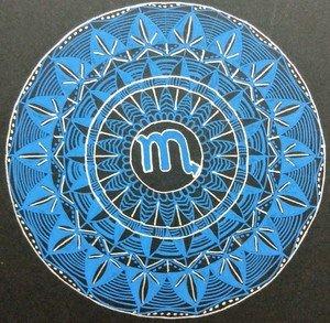 Scorpion Blue Mandala