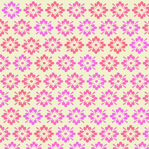 Pink Flower Pattern On Cream Color