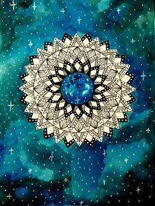 Blue Galaxy Mandala