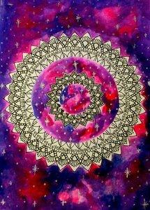 Pink Blue Galaxy Mandala