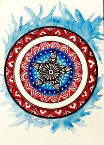 Captain America Mandala