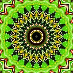 Green Hypnotic Mandala