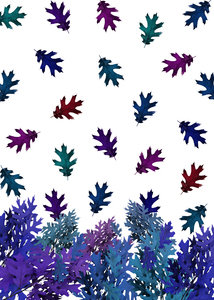 Purple Leaves Fall