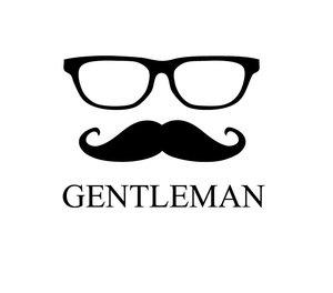 Hipster Mustache Gentleman