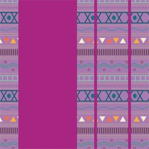 Purple Aztec Tribal