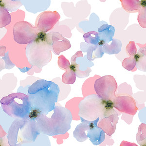 Watercolor Florals On White