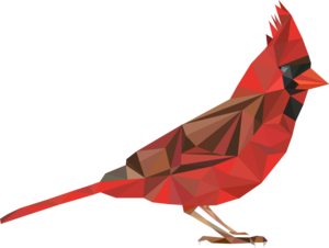 Polygonal Red Bird