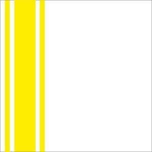 Minimal Yellow Strips On White