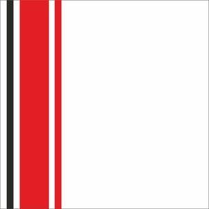 Minimal Red Strips On White
