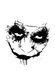 Joker Face On White
