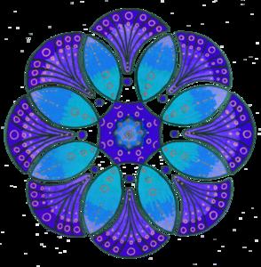 Blue Mandala Flower