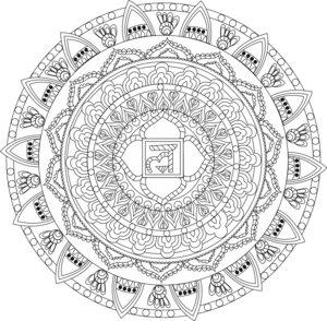 Infinite Freedom Chakra Mandala White