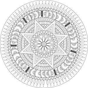 Enlightenment Chakra Mandala White
