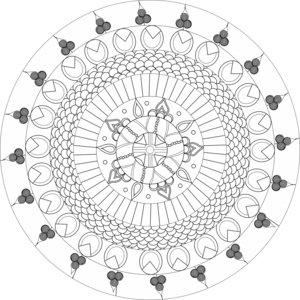 Energy And Inspirational Heart Chakra Mandala White