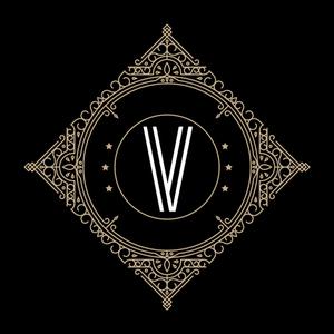 Retro Black Letter V