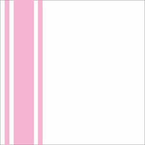 Minimal Pink Strips On White