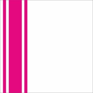 Minimal Bright Pink Strips On White