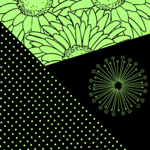 Floral Pattern On Green