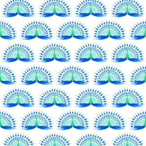 Blue And Green Peacock Pattern