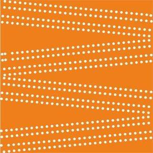 Cross Dot On Orange