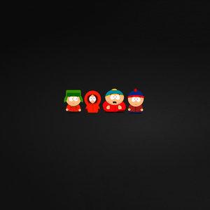 South Park Kids On Black