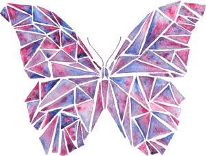 Abstract Watercolour Butterfly